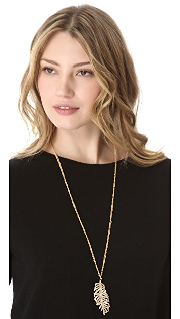 Club Monaco Feather Pendant Necklace