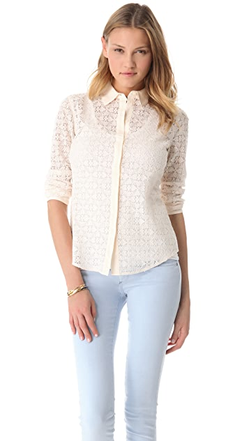Club Monaco Phoebe Lace Shirt