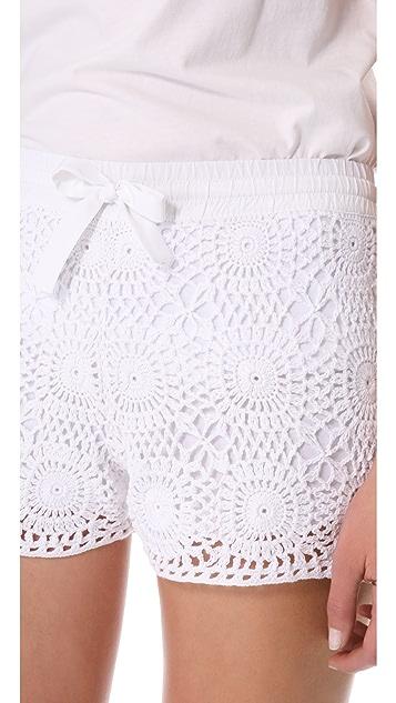 Club Monaco Emma Crochet Shorts