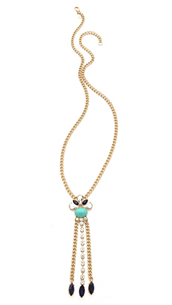 Club Monaco Turquoise Crystal Pendant Necklace