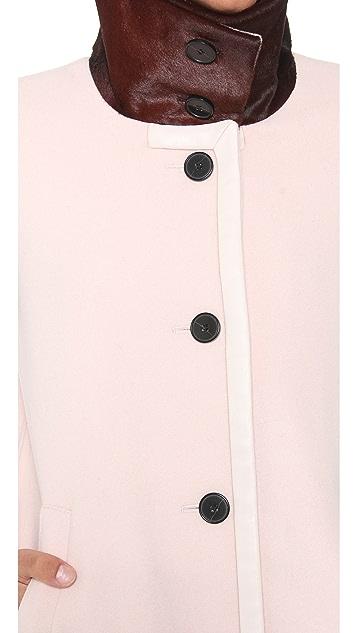 Club Monaco Stella Coat with Haircalf Collar