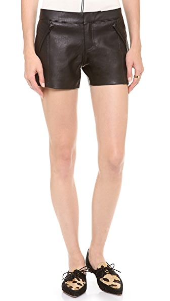 Club Monaco Stephanie Faux Leather Shorts