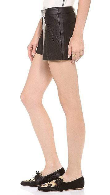 Club Monaco Stephanie Faux Leather Shorts
