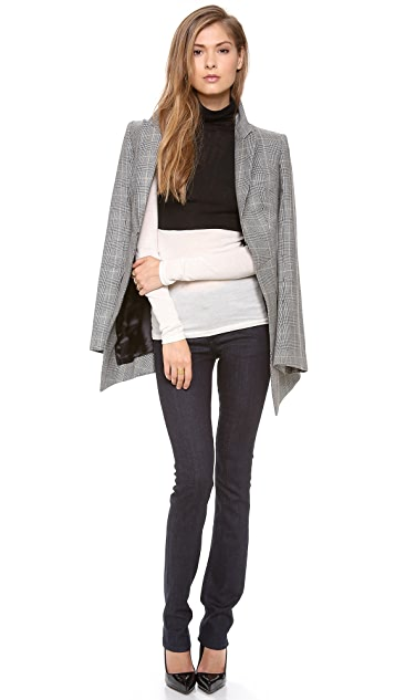 Club Monaco Julie Colorblock Turtleneck Top