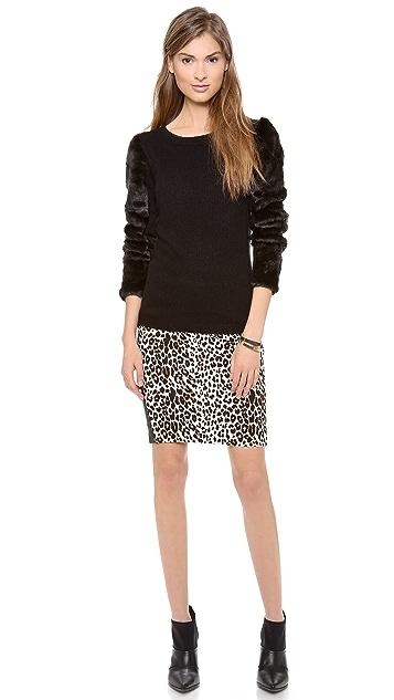 Club Monaco Irina Faux Fur Sweater