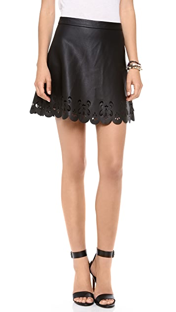 Club Monaco Colleen Faux Leather Skirt
