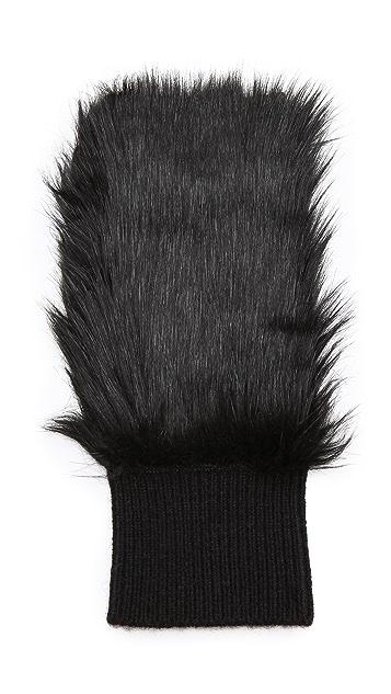 Club Monaco Lena Faux Fur Cashmere Gloves