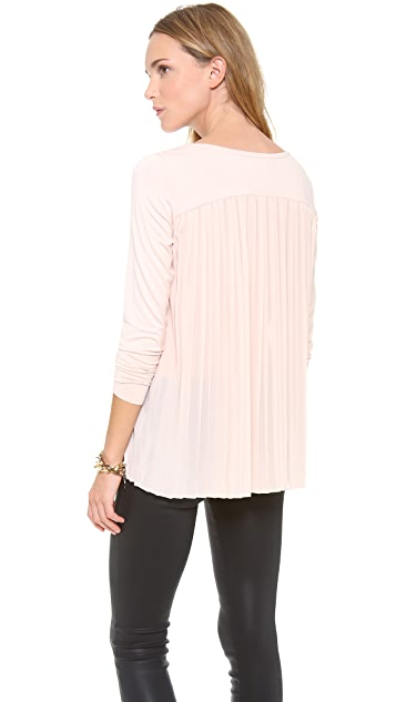 Club Monaco Kassandra Pleat Back Top