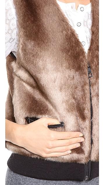 Club Monaco Natasha Faux Fur Vest