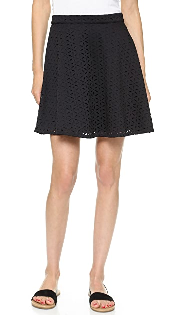 Club Monaco Danny Laser Cut Skirt