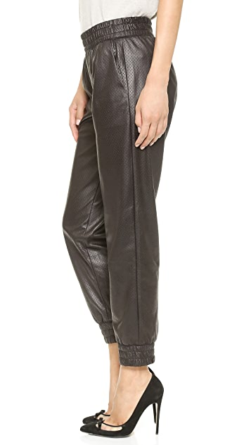 Club Monaco Brice Faux Leather Sweatpants