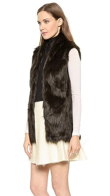 Club Monaco Shane Faux Fur Vest