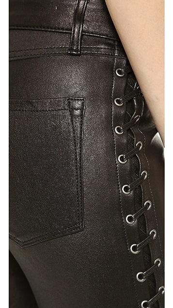 Club Monaco Sabelle Leather Leggings