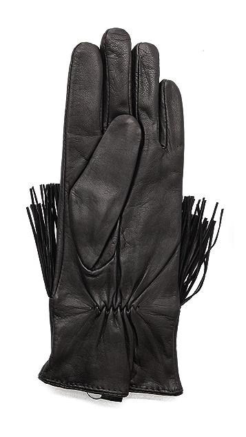Club Monaco Kimmy Fringe Gloves