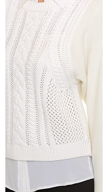 Club Monaco Lenini Cable Sweater
