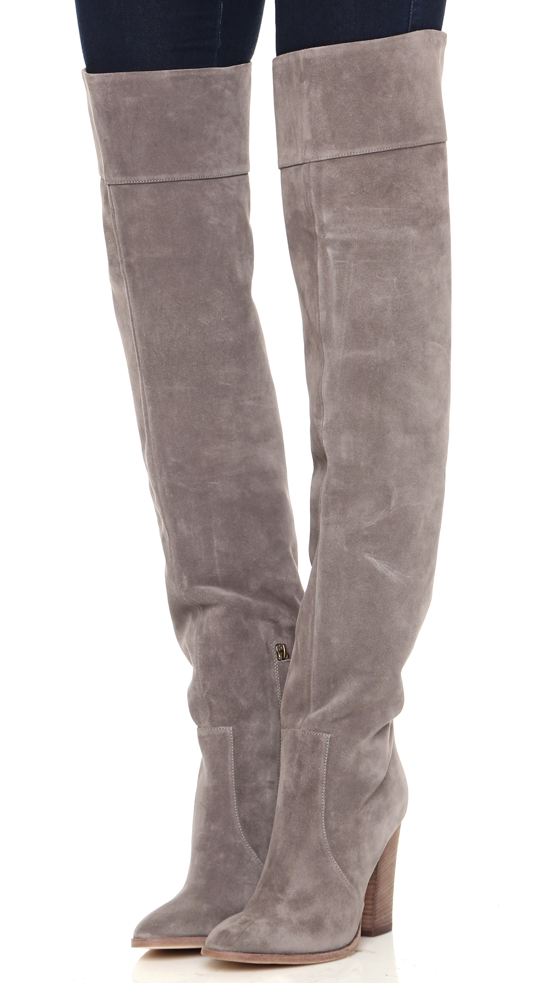 Club Monaco Lisa Over the Knee Suede Boots | SHOPBOP