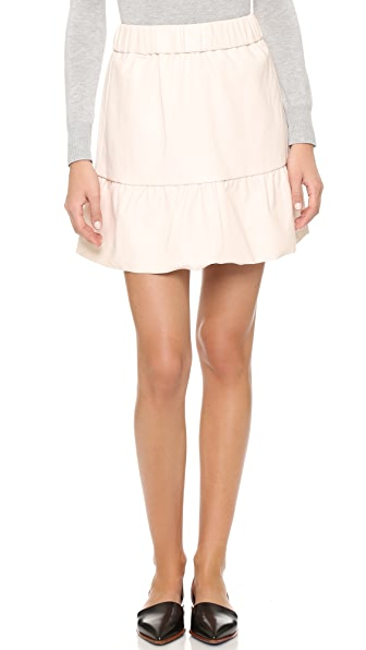 Club Monaco Delani Novel Faux Leather Skirt