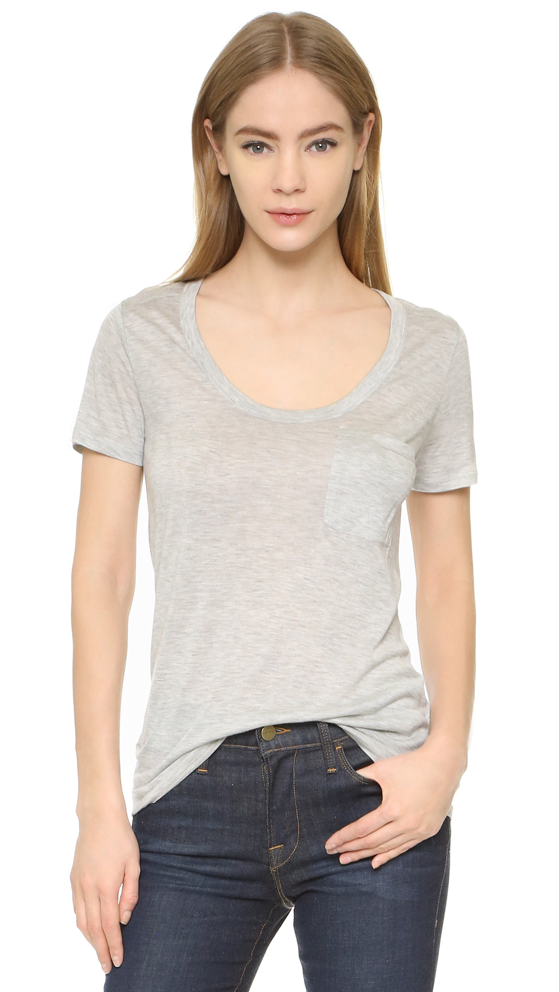 Club Monaco Sunny Tee - Light Heather Grey