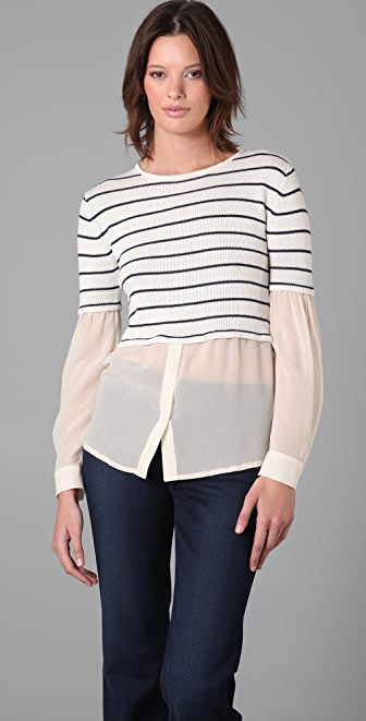camilla and marc Morning Mist Striped Sweater