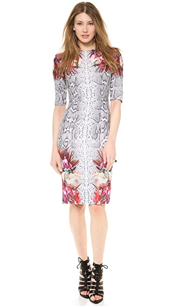 camilla and marc Vector Floral Snakeskin Dress