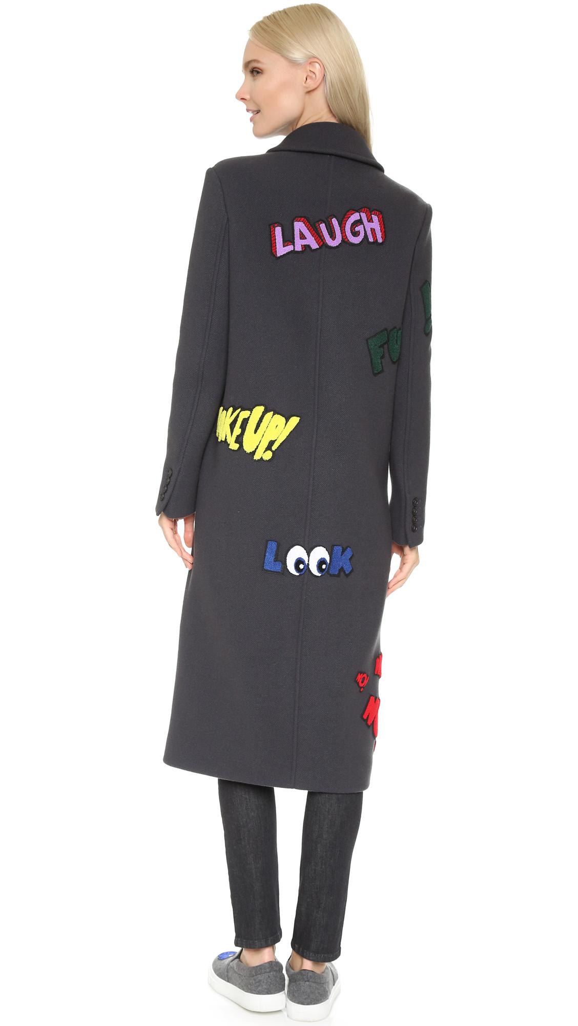 Mira Mikati Word Patch Coat  56ad951796000
