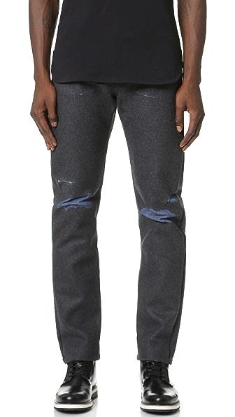 CMMN SWDN Joe Bonded Wool and Denim Jeans