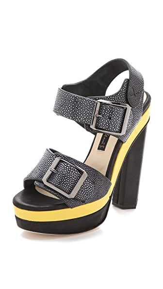 Chrissie Morris Ida Colorblock Sandals