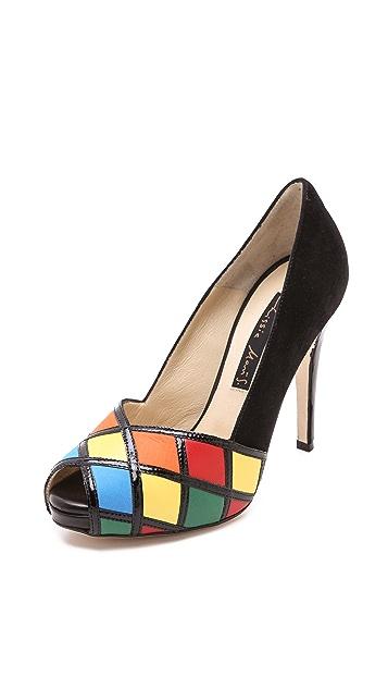 Chrissie Morris Rubiks Multicolored Pumps