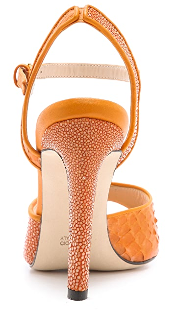Chrissie Morris Farrah Python & Stingray Sandals