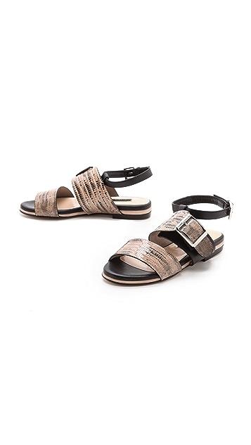 Chrissie Morris Mirta Lizard Sandals