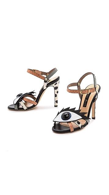 Chrissie Morris Wink Python Sandals