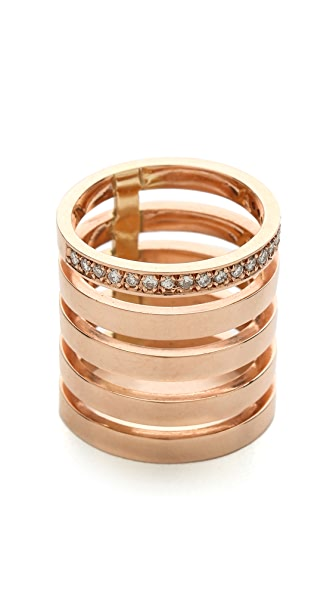 Campbell Floating Stacker Ring with Diamonds