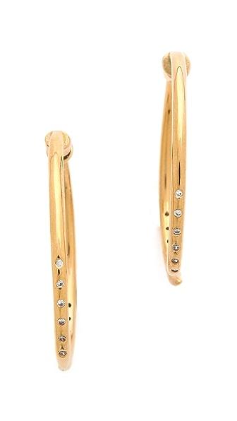 Campbell Sparkle Talon Hoop Earrings