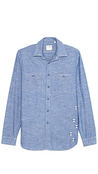 Coast-Wide Indigo Arrows Chambray Shirt