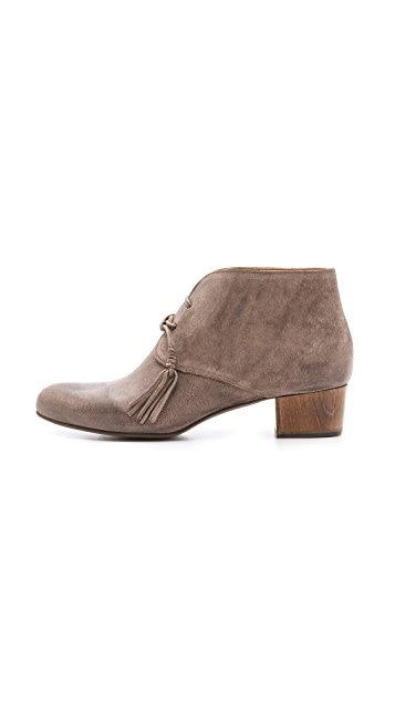 Coclico Shoes Kaelen Lace Up Booties on Low Heel