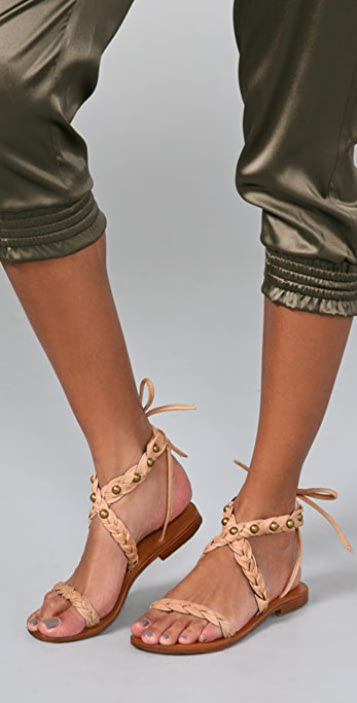 Cocobelle Braided Ankle Wrap Sandals