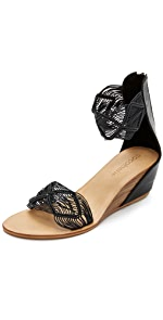Lilly Demi Wedge Sandals                Cocobelle