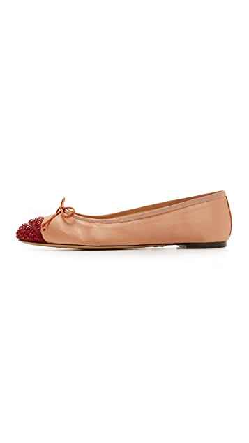 Charlotte Olympia Kiss Me Darcy Flats