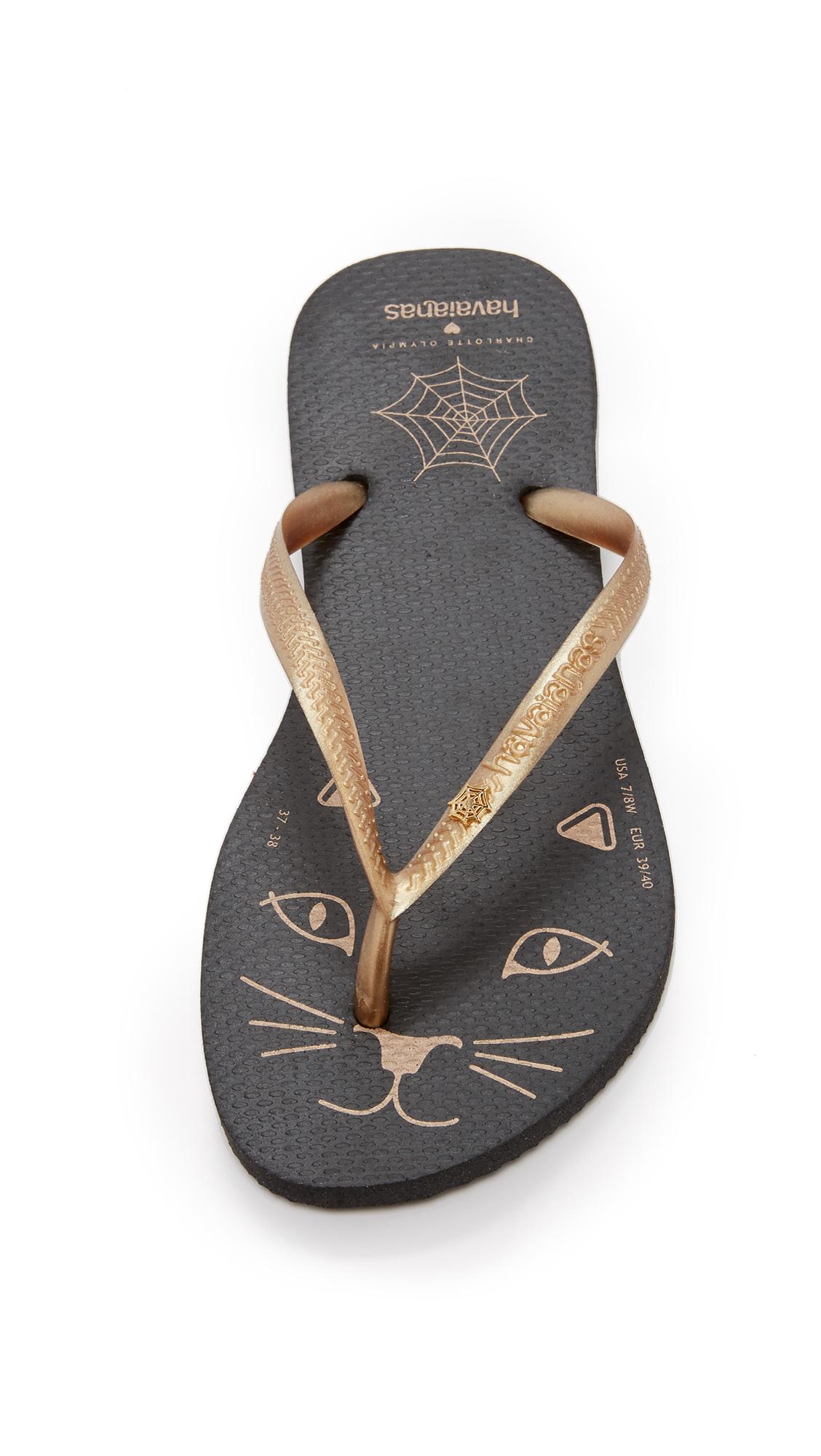 9b399e59ffe Charlotte Olympia Kitty Havaianas Flip Flops