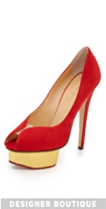 Suede Daphne Pumps                Charlotte Olympia