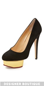 Suede Dolly Pumps                Charlotte Olympia