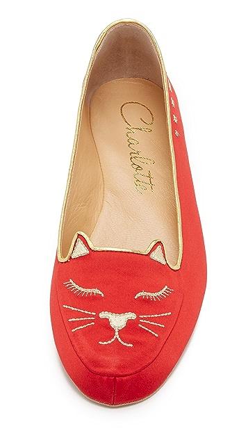 Charlotte Olympia Cat Nap Slipper Set