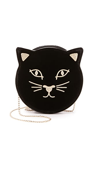 Charlotte Olympia Pussycat Purse - Black