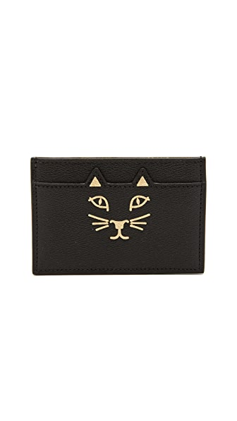Charlotte Olympia Feline Card Holder - Black
