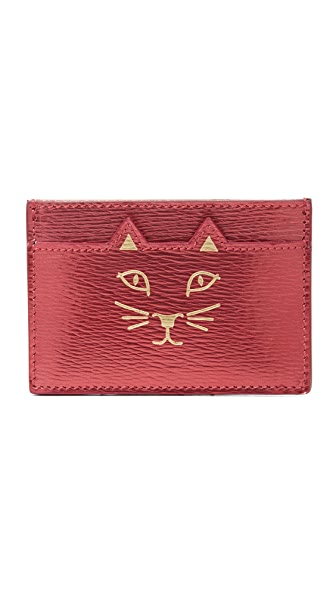 Charlotte Olympia Feline Card Holder - Red
