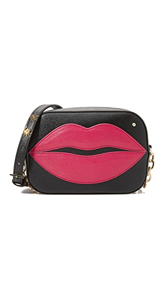 Charlotte Olympia Pouty Shoulder Bag - Black