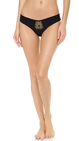 Commando Crystal Applique Thong