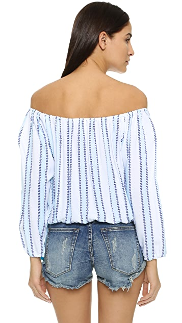 coolchange Skye Stripe Beach Blouse
