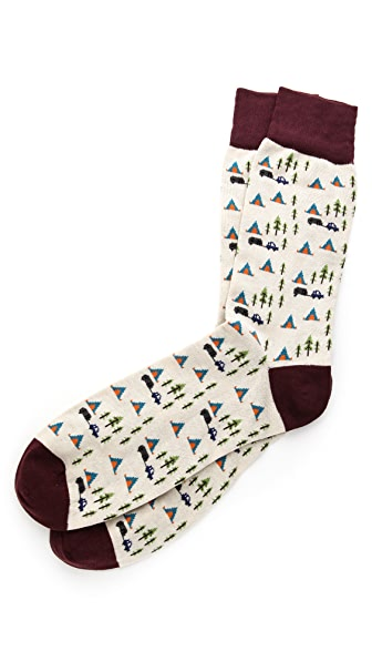 Corgi Camp Print Socks