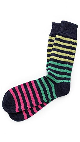 Corgi Striped Heavy Socks